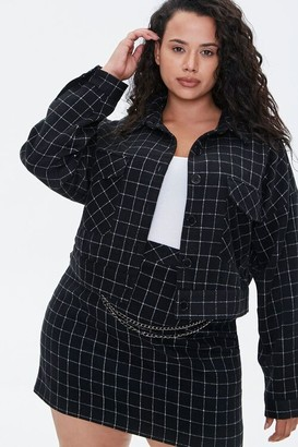 Forever 21 Plus Size Grid Print Jacket