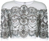 Monique Lhuillier embellished sheer capelet - women - Nylon - 4