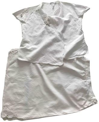 Emmanuelle Khanh White Linen Dress for Women Vintage