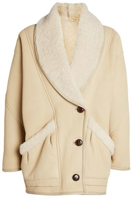Isabel Marant Shearling Leather Audrina Jacket
