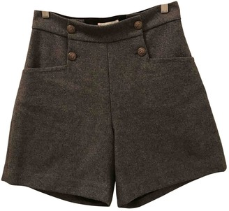 Bonpoint Grey Wool Shorts for Women