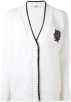 Brunello Cucinelli V-neck cardigan - women - Polyamide/Spandex/Elastane/Wool/Swarovski Crystal - M
