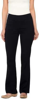 Denim & Co. Active Petite Denim Yoga Pants with Front Pockets