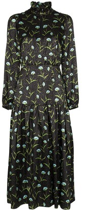 Borgo de Nor Eugenia floral-print jacquard midi dress