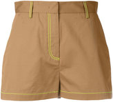 MSGM contrast stitch shorts