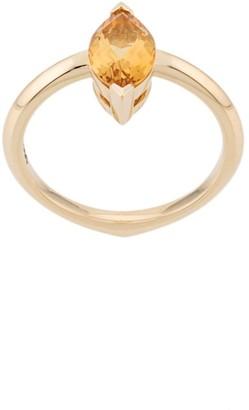 Stephen Webster 18kt Yellow Gold Citrine Gemstone Stacking Ring