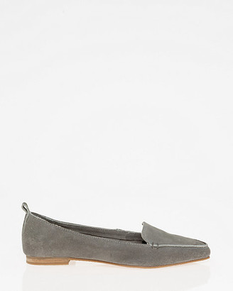 Le Château Suede Pointy Toe Loafer