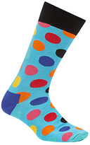 Happy Socks Big Dot Socks, One Size, Blue
