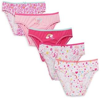 Betsey Johnson Girl's 5-Piece Cotton Panty Set
