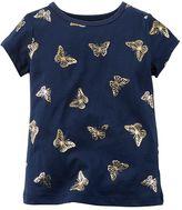 Carter's Baby Girl Metallic Butterfly Tee