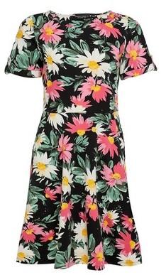 Dorothy Perkins Womens Black Floral Print T
