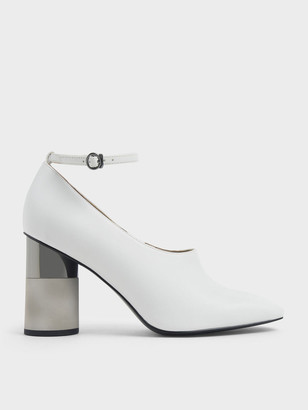 Charles & Keith Ankle Strap Concrete Heel Pump