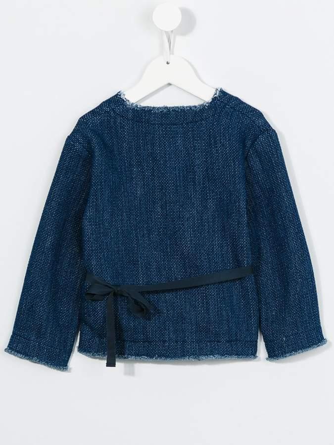 Il Gufo belted denim jacket