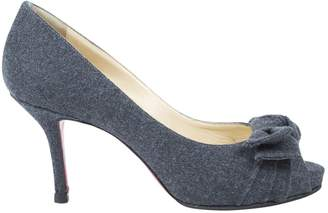 Christian Louboutin Anthracite Cloth High Heel