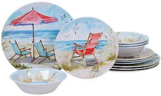 Certified International Ocean View Melamine 12-Pc. Dinnerware Set