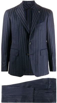 Tagliatore Fitted Pinstriped Suit