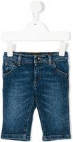 Dolce & Gabbana logo jeans - kids - Cotton/Spandex/Elastane - 3-6 mth
