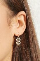 Forever 21 FOREVER 21+ Dollar Sign Drop Earrings