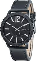 Black Dice Swagger Men's Quartz Watch with Black Dial Analogue Display and Black Leather Strap BD 069 01