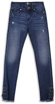 7 For All Mankind Girls' Laced Skinny Jeans - Sizes 4-6X