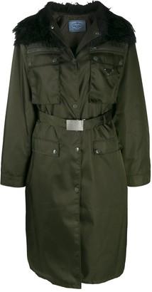 Prada long belted coat