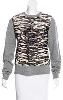 A.L.C. Fur-Trimmed Wool Sweater