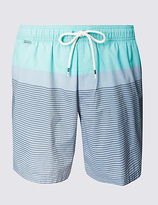 M&S Collection Quick Dry Striped Swim Shorts
