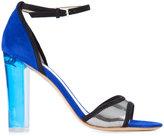 Monique Lhuillier Annabelle sandals - women - Leather/Suede/Metallic Fibre - 36