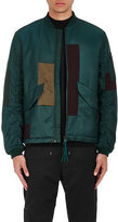 Oamc Men's Patchwork Insulated Bomber Jacket-GREEN