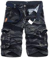 J-SUN-7 Men's Camo Shorts 88 Sporting Knickers Mens Outdoor Cargo Shorts( , US/ASIA)