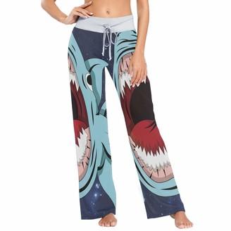 Colormu Womens Pj Pants Sleep Pants Long Athletic Wide Leg Pants Milky Way Animal