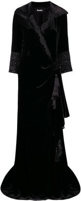 Parlor Velvet Wrap Evening Gown