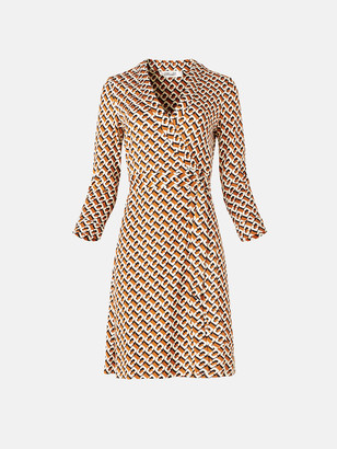 Diane von Furstenberg Julian Silk-Jersey Mini Wrap Dress