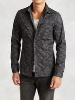 John Varvatos Cotton Camo Shirt Jacket
