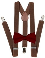 MXI Designs Brown Suspender and Bow ties Set Combo in Boys Toddler Baby Mens