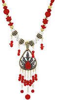 American West Sterling/Brass & Coral Bead Necklace & Enhancer