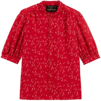 Vanessa Seward X La Redoute Collections Printed Round-Neck Blouse with Short Sleeves