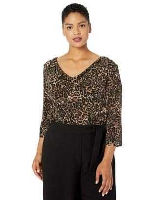 Alex Evenings Women's Plus Size Glitter Knit Blouse