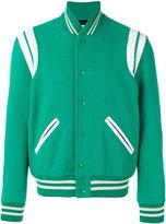 Saint Laurent Teddy varsity jacket - men - Cotton/Lamb Skin/Polyamide/Virgin Wool - 52