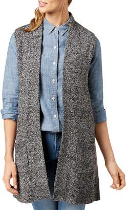 Karen Scott Petite Marled Knit Cotton-Blend Vest
