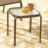 Bed Bath & Beyond Hawthorne Glass Top Accent Table in Bronze