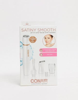 Conair Satiny Smooth all-in-one facial trim system-No Color