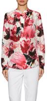 Lafayette 148 New York Sharla Silk Floral Print Blouse