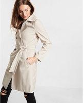 Express classic trapunto stitch sash trench coat