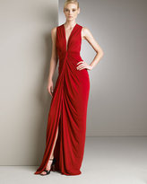 Donna Karan Collection Floor-Length Knot Gown