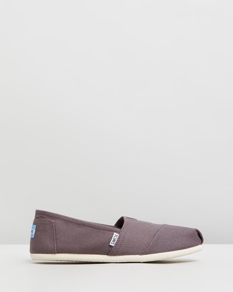 Toms Women's Brown Ballet Flats - Canvas Classics - Women's - Size One Size, 7 at The Iconic
