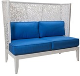 David Francis Furniture Mykonos Loveseat with Cushions Fabric: Buttercup