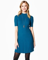 Charming charlie Bellissima Pleated Sweater Dress