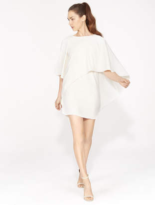 Halston Flowy Asymmetric Drape Dress