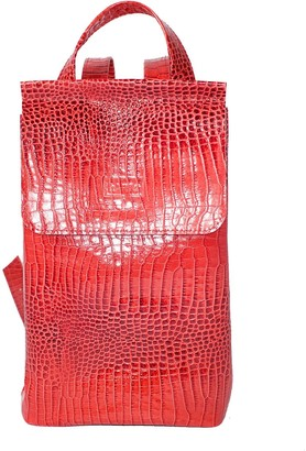 Kartu Studio Leather Backpack ''Peppermint'' Red Croc Print